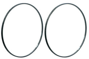Nisi Solidal Rims Pair 36h Hard Anodized Grey Tubular Made in Italy Lightly Used