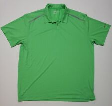 Nike Golf Polo DriFit Green Athletic Casual Tour Performance Mens Xl