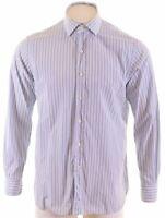 POLO RALPH LAUREN Mens Shirt Size 16 1/2 Large Blue Striped Custom Regent NQ02