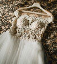 Designer Brautkleid A-Linie Perlen Ivory Hochzeitskleid Lorenzo Rossi Italia