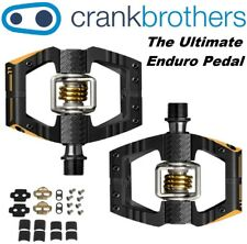 Crank Brothers Mallet E 11 Race Black Bike Enduro Ti Pedals & Cleats Bros LIGHT