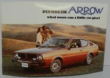 1976 PLYMOUTH ARROW GT GS 160 HATCHBACK DEALERSHIP PROMO MOPAR DEALER POSTCARD