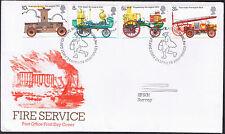 Servicio de bomberos Sellos Conmemorativos-primer día cubierta 1974-SG950 a SG953