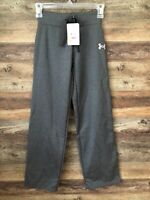 NWT Girls Under Armour Gray Loose Sweat Pants, Size YSM