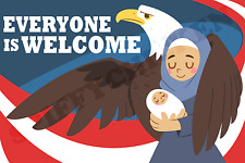 EVERYONE IS WELCOME Immigration Muslim Anti Trump Decal