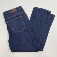 J. Ferrar Denim Jeans Mens 42X32 Blue Straight Leg Classic Rise Cotton Dark Wash