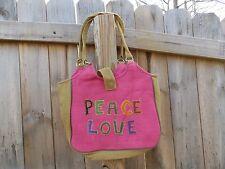 Fair Trade Handmade Women's Peace & Love Bag/Purse