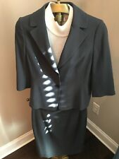 $300.00 Ann Taylor Women's 2 Piece  Suit Gray Size 4 jacket size 6 skirt