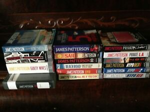 Lot of 16 James Patterson CD audiobooks~ NYPD Red 1-2-3, Mistress, Private L.A