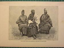 C1890 antica stampa ~ toucouleur tipi l'interprete ALFA locale & le sue sorelle