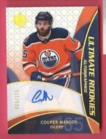COOPER MARODY 2018-19 UD ULTIMATE COLLECTION RETRO ROOKIE AUTO SP #d /175 OILERS