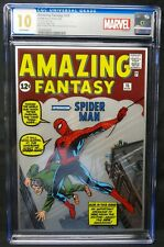 Dragonmiser Marvel Amazing Fantasy #15 Silver Foil CGC 10 First Release