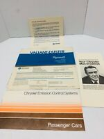 Mopar A body 1972 Plymouth Valiant Duster Operator's Manual With Pouch OEM