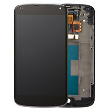 NEW BLACK For LG Google Nexus 4 E960 LCD Digitizer Display Touch Screen+ Frame F