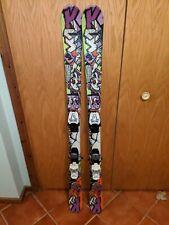 K2 JUVY Kid's Jr Skis 139cm All-Mountain Rocker w/ Marker 4.5 Bindings USED