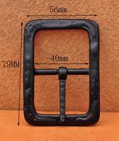 """Men's Quality Center bar belt buckle Solid Black Single Prong Belt Buckle 1 1/2"""""""