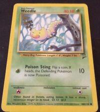 Pokemon Cards - Weedle #100/130 BASE 2 Set [NM+] (2000)