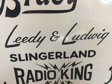 Leedy & Ludwig Black Vintage Logo Sticker/Decal (Hi Quality 3M Vinyl