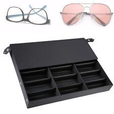 18 Slots Eyeglass Sunglasses Display Stand Box Glasses Organizer Holder Case Usa