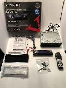 Kenwood Excelon KDC-X792 Car Stereo CD FM AM Deck Bluetooth & USB- Openbox