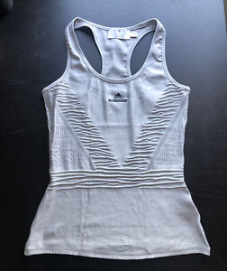Adidas Stella McCartney Barricade Tennis Tank Top Silver Gray 36/Small