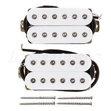 Hexbucker Guitar Humbucker Pickup Set, Bridge and Neck White