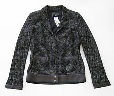 $4,895 CHANEL Stitched Leather Trim Boucle JACKET * FR 40 / US4 - 6 ~ NEW!