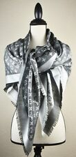 NEW LV Monogram Denim BLACK Silk Scarf/Shawl 100% Authentic M71378 Louis Vuitton