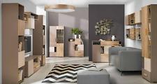 Vitrine Anrichte Schrank Regal Modern Stil Wohnzimmer Kollektion Kommoden Glas