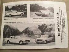 Bristol Cars Car Brochure - 1982