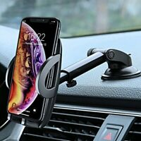 SUPPORTO AUTO UNIVERSALE Ventosa per Smartphone PORTA CELLULARE 360° Regolabile