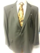 Big Men Suit New Henry Grethel Business Slacks 2 PC Piece 58R Jacket Taupe Green