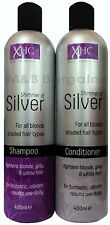 XHC Shimmer of Silver Shampoo + Conditioner Set 400ml Purple Toning Blonde Hair
