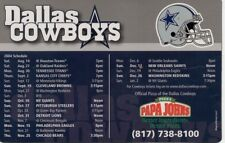 Dallas Cowboys 2004 Season Schedule Refrigerator Magnet