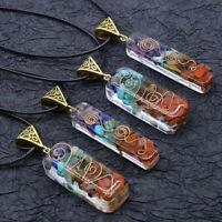 Natürliche Orgon Chakra Heilung Anhänger Halskette Pendel Amulett Kristall HaXUI