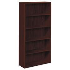 Hon 10500 Series Laminate Bookcase Five-Shelf 36w x 13-1/8d x 71h Mahogany