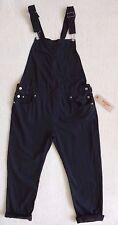 Levi's Women's Black Overalls Dark Cotton Bib Overalls Relaxed Fit Size L
