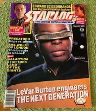 Starlog #162 LeVar Burton Star Trek The Next Generation - Collctible Cover