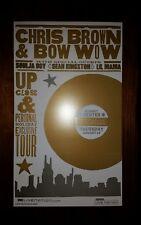 CHRIS BROWN & BOW WOW Nashville HATCH SHOW PRINT 2010 Tour Poster Soulja Boy