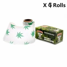 4 x Rolls Hornet Hempleaf pattern 44MM* 5Meters  Rolling Papers Cigarette paper