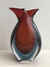 Archimede Seguso Flavio Poli Sumerso Vase Italian Murano Glass