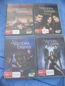 THE VAMPIRE DIARIES  - THE COMPLETE SERIES 1 to 4 - 4 x DVD SETS