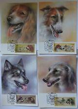 4 postcards (cartmaximum) the USSR of a dog .1987.
