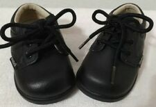 EUC  Weebok by Reebok 89009 infant boys black leather lace up loafers Size  2.5 f4bfe9b7a