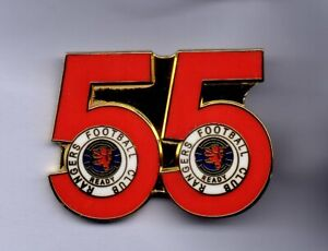 RANGERS CHAMPIONS BADGE 2020--2021.....THE 55...RED