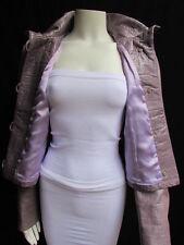 Giorgio Armani Women Lavander Lambskin Leather Fashion Outwear Jacket Size 10/44