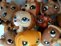 Littlest Pet Shop Set Lot 3 Random Dachshund Weiner Puppy Dog BUY3 GET 1 FREE MM