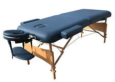 "Deluxe Blue 30""W Professional Portable Massage Table Facial SPA Bed Tattoo Home"