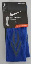 Nike Women's Baseball Elite Vapor Cushioned Socks 4-6 Blue One Pair NEW
