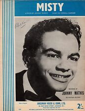Sheet Music for 'Misty', as recorded by Johnny Mathis - 1955